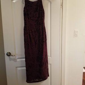 Vintage Burnout Velvet Dress